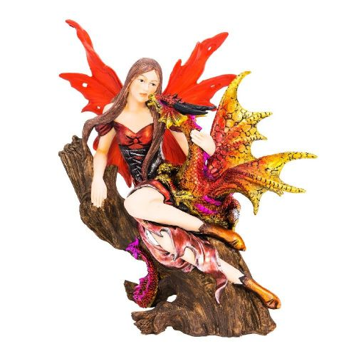 Autumn Spirit Fairy & Dragon Figurine Ornament Statue